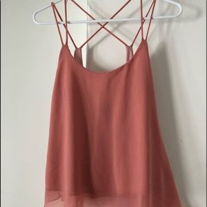 Lovely and Flowy Wet Seal Pink top